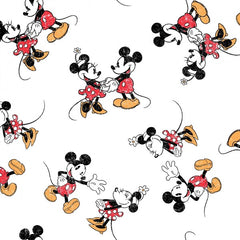 "(Remnant 18"") Mickey and Minnie Scattered Fabric to sew - QuiltGirls®"