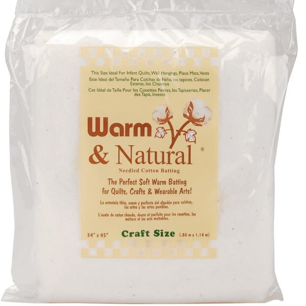Warm & Natural Batting - Craft Size - QuiltGirls®