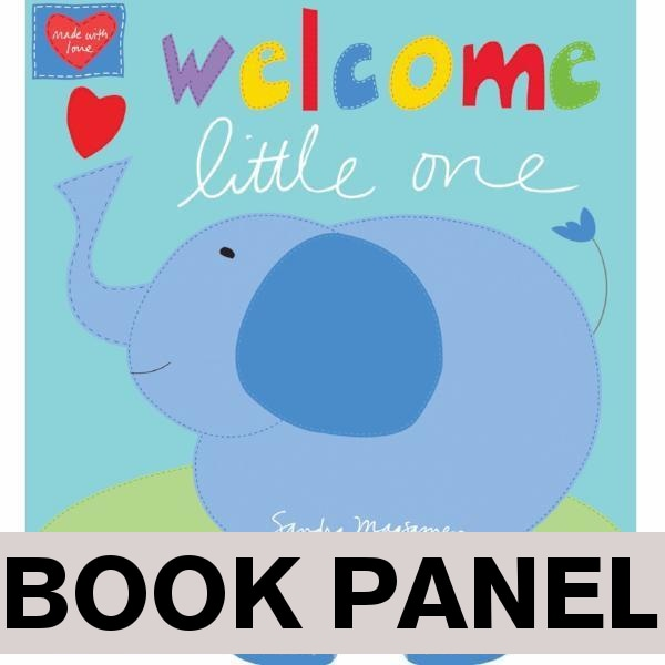 Welcome Little One Fabric Book Panel to sew