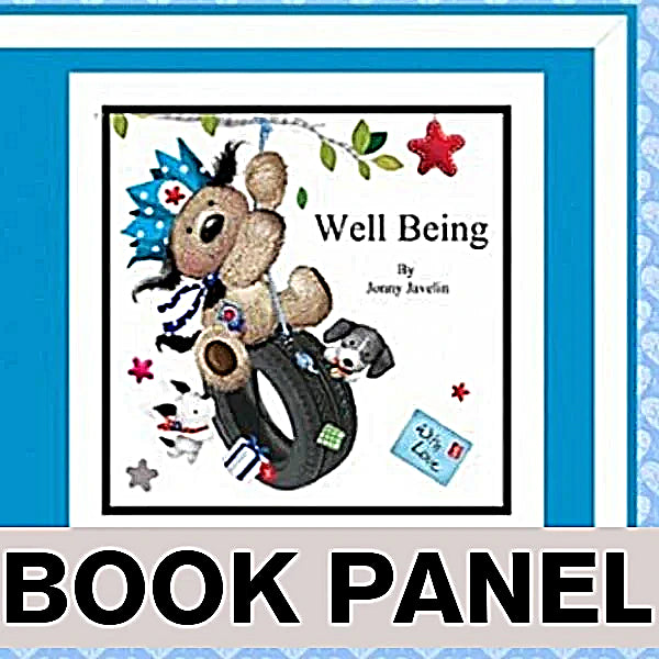 Well Being Fabric Book Panel to Sew