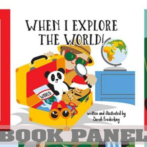 When I Explore the World Fabric Book Panel to sew - QuiltGirls®