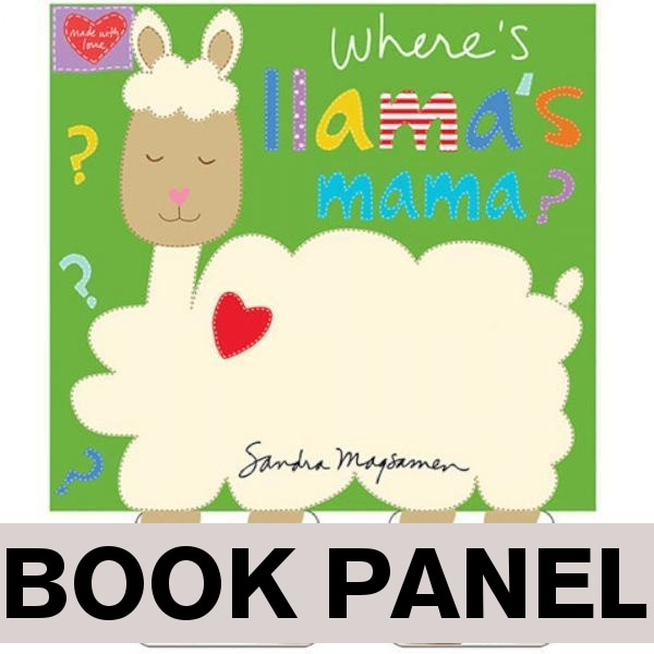 Where's Llama's Mama Fabric Book Panel to sew