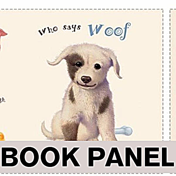 Who Says Woof? Fabric Book Panel to Sew