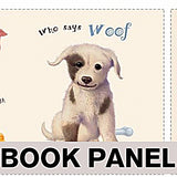 Who Says Woof? Fabric Book Panel to Sew - QuiltGirls®