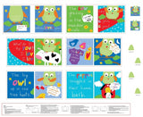 Whooo Loves You Fabric Book Panel to sew - QuiltGirls®