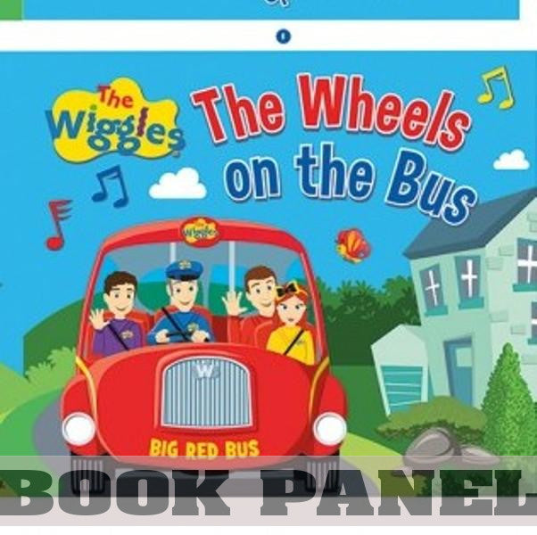 Wiggles on the Bus Fabric Book Panel to Sew