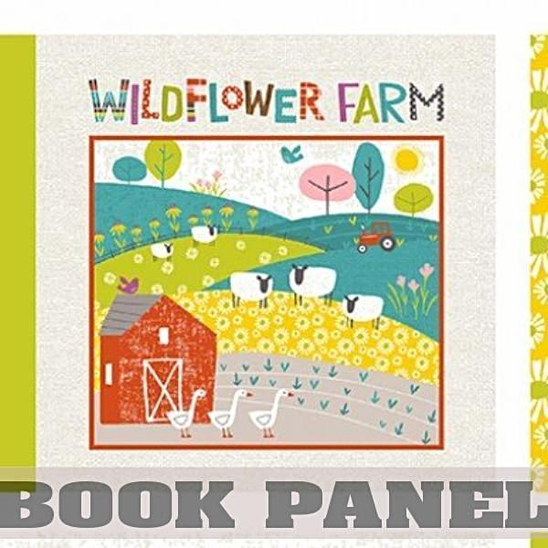 Wildflower Farm Fabric Book Panel to Sew