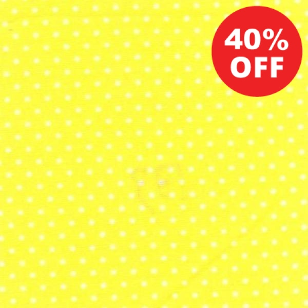 Yell Pin Dots on Yellow Fabric to sew - QuiltGirls®