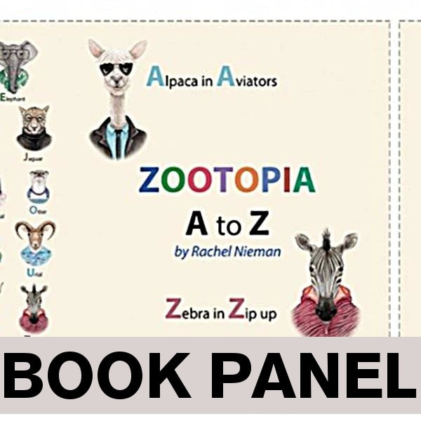 Zootopia A to Z Fabric Book Panel to Sew