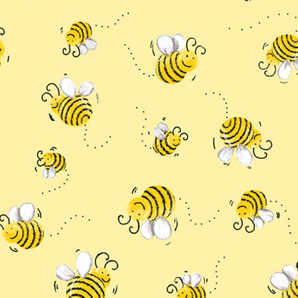 Susybee's Bees on Yellow Fabric to sew