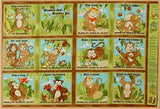 Monkey Games Fabric Book Panel to sew - QuiltGirls®