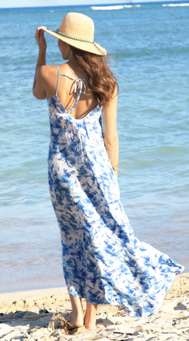 Christina Maxi Dress in 570 Blue