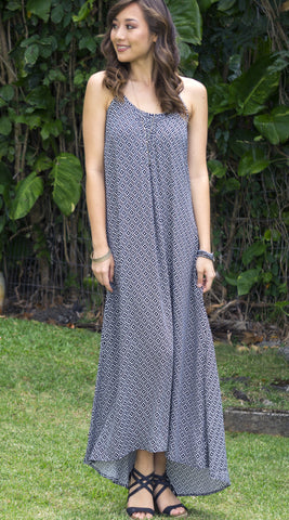 Christina Maxi Dress in 555 Black
