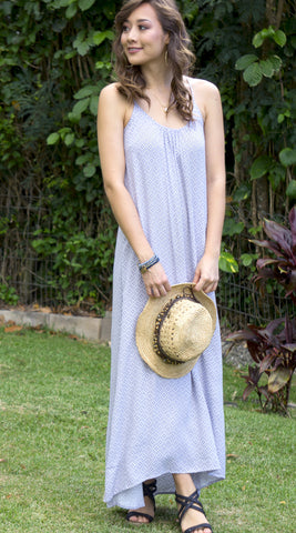 Christina Maxi Dress in 555 Grey