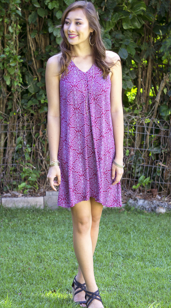 Elly Dress in 569 Wine
