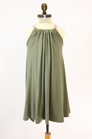 Lil Halley Dress in Army Green