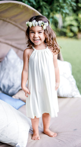 Lil Halley Dress in Off White