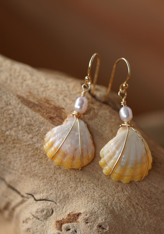 Sunrise Shell Earrings 14kt Gold Filled