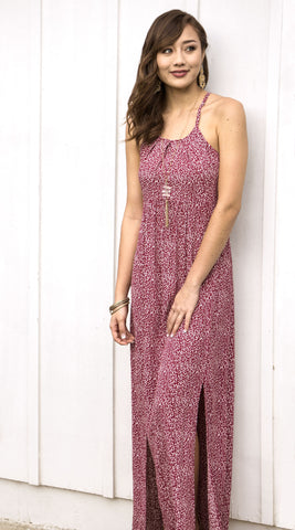 Maya Maxi Dress in 562 Raspberry