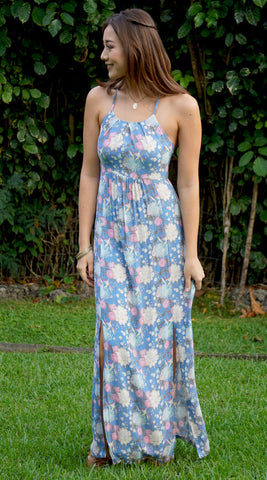 Maya Maxi Dress in 558 Blue