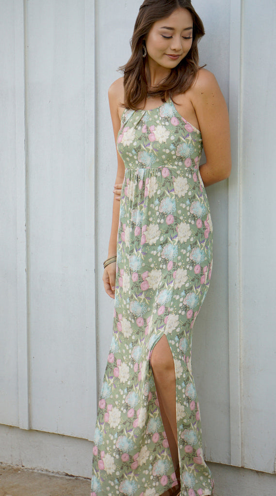 Maya Maxi Dress in 558 Green