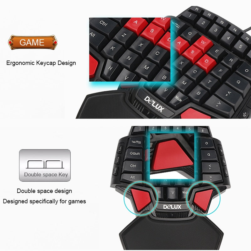 Deluxe T9 Gaming Keyboard and Mouse Combo