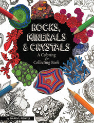 Rock, Minerals & Crystals Coloring Book
