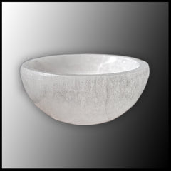Selenite Bowl Round