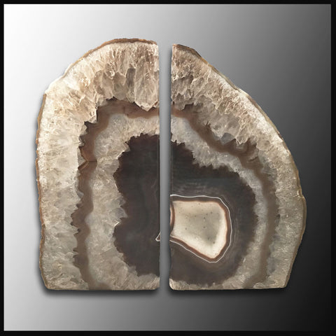 BKD247 Brazilian Agate Bookends