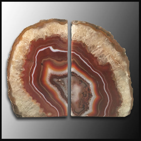 BKD252 Brazilian Agate Bookends