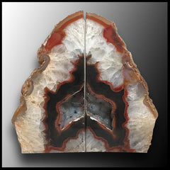 BKD287 Brazilian Agate Bookends
