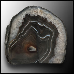BKD294 Brazilian Agate Bookends