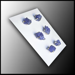 Raw Stone Earrings - Tanzanite