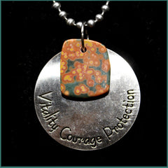 ESC104ja Escape Jasper Medallion Necklace