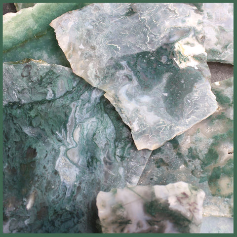 Green Moss Agate Slabs