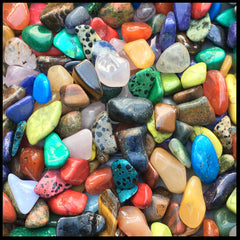 Mixed Tumbled Stone - 1lb. lot