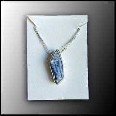 Raw Stone Pendant - Blue Kyanite