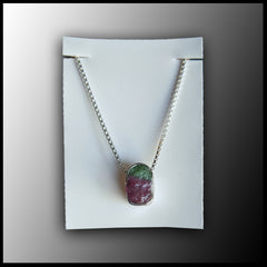 Raw Stone Pendant - Ruby in Zoisite