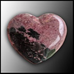 RHO102 Rhodonite Heart