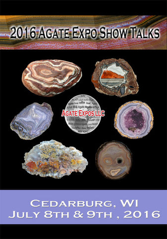 2016 Agate Expo Show Talks DVD Set