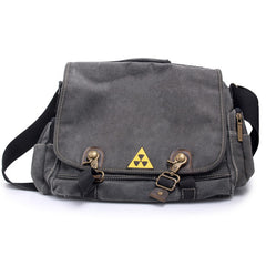 Black canvas men messenger bag
