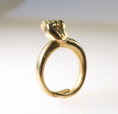 Bronze Fist Ring - Dennis Higgins Jewelry
