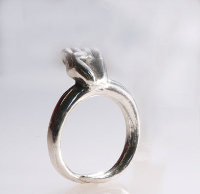Silver Fist Ring - Dennis Higgins Jewelry