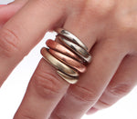 Round wrap ring group - Dennis Higgins Jewelry