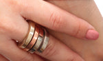 Square wrap rings - Dennis Higgins Jewelry