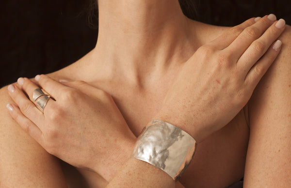 Big soft comfortable silver cuff - Dennis Higgins Jewelry
