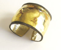 18 Karat bi-metal turned edge cuff - Dennis Higgins Jewelry