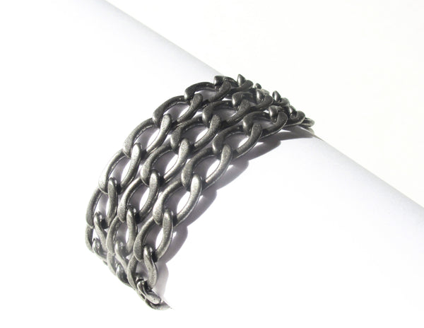 Single wrap 9mm oval curb chain - Dennis Higgins Jewelry
