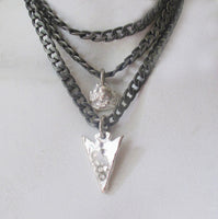 Silver and steel necklace - Dennis Higgins Jewelry