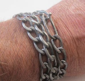 "Triple wrap stainless bracelet/ 22"" Necklace - Dennis Higgins Jewelry"